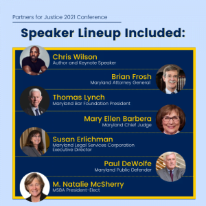 Infographic detailing speakers of the conference.